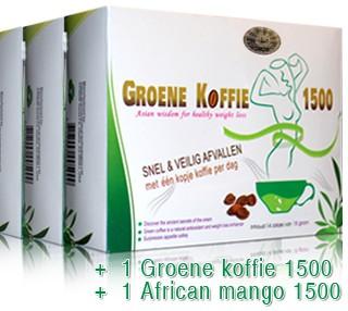 groene koffie 1500 voordeel pakket diamond