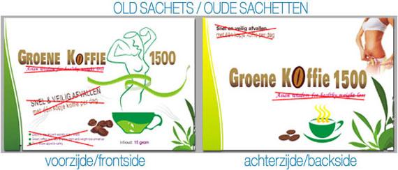 groene koffie 1500 sachetten